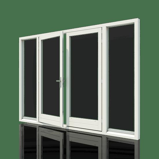 Openslaande tuindeuren met 2 zijlichten