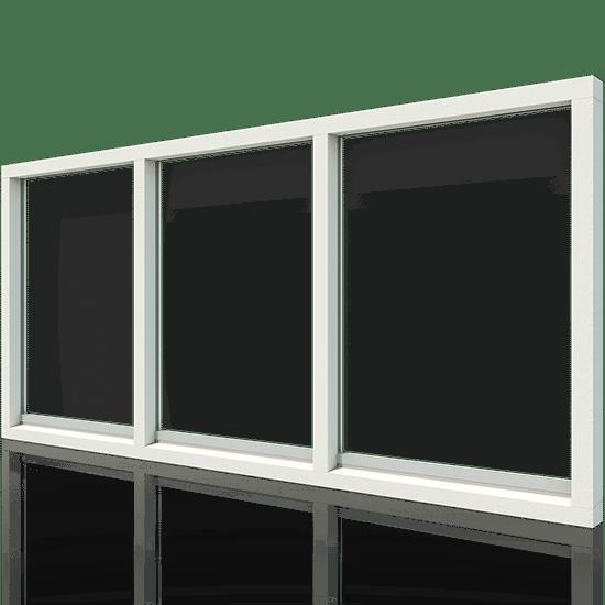 houten 3-vaks kozijn horizontaal